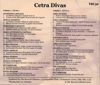 Cetra Legacy of Divas, Vol. I         (2-Record Collector TRC 36)