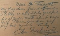 Charles Dalmores (Signed Note)