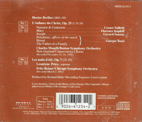 Charles Munch;  Fritz Reiner;  Leontyne Price, Cesare Valletti, Florence Kopleff, Gerard Souzay, Giorgio Tozzi  (2-RCA 61234)