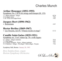 Charles Munch, Vol. XXXVI;  Berj Zamkochian - Boston - Symphony Hall  (St Laurent Studio YSL T-941)