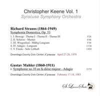 Christopher Keene, Vol. I  -  Strauss & Mahler   (St Laurent Studio YSL T-1010)