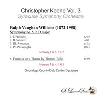 Christopher Keene, Vol. III - Vaughan Williams  (St Laurent Studio YSL T-1012)