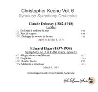 Christopher Keene, Vol. VI - Debussy & Elgar  (St Laurent Studio YSL T-1057)