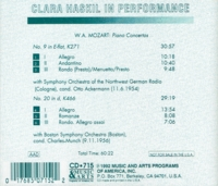 Clara Haskil;  Munch;  Ackermann   (Music & Arts 715)
