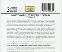 Covent Garden on Record, Vol. I   (3-Pearl 9923)