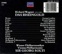 Das Rheingold  (Solti;  George London, Set Svanholm, Flagstad, Gustav Neidlinger)  (3-London 414 101)