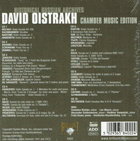 David Oistrakh - Chamber Music Edition  (10-Brilliant 8402)