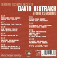 David Oistrakh - Violin  Concertos  (10-Brilliant 92609)