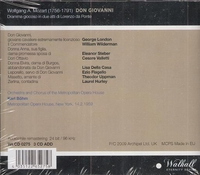 Don Giovanni  (Bohm;  London, Steber, Valletti, della Casa, Flagello, Hurley)  (3-Walhall 0275)