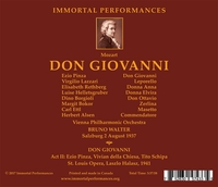 Don Giovanni  (Bruno Walter;  Pinza, Rethberg, Lazzari, Dino Borgioli)  ( 3-Immortal Performances IPCD 1091)
