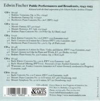 Edwin Fischer - Public Performances and Broadcasts  (6-Music & Arts 1080)