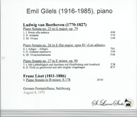 Emil Gilels, Vol. VII     (St Laurent Studio YSL T-701)