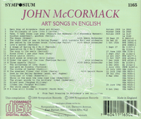 John McCormack  -   Since first I saw your face (Art Songs in English)  (Symposium 1165)