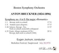 Eugen Jochum - Boston  (Bruckner)   (St Laurent Studio YSL T-896)