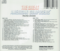 Frank Loesser   (2-Columbia Music Collection C2 & C22 7972)