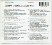 German  Ensemble  Recordings      (Preiser 89989)
