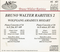Myra Hess;  Bruno Walter - Mozart  (AS Disc 401)