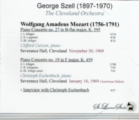 George Szell, Vol. IX;  Clifford Curzon;  Christoph Eschenbach   (St Laurent Studio YSL T-545)