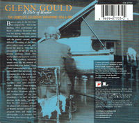 Glenn Gould - A State of  Wonder - The Complete Goldberg Variations  (3-Sony S3K 87703)