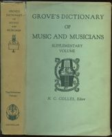 Grove Dictionary of Music and Musicians, 5th Edition, 1961, Eric Blom, Ed.   (St Martin's Press)