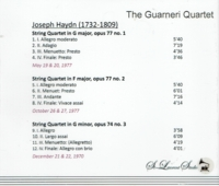 Guarneri Quartet, Vol. II   (St Laurent Studio YSL 33-699)