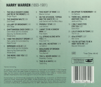 Harry Warren - American Songbook Series   (Smithsonian RD 048-14)