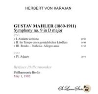 Herbert von Karajan, Vol. IX - Mahler 9th   (2-St Laurent Studio YSL T-1073)