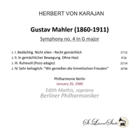 Herbert von Karajan, Vol. VI - Mahler 4th;  Edith  Mathis   (St Laurent Studio YSL T-1050)