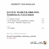 Herbert von Karajan, Vol. VII - Mahler 9th   (2-St Laurent Studio YSL T-1071)