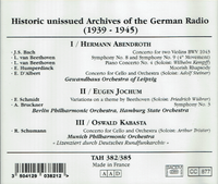 Historic Unissued Recordings of German Radio - Abendroth, Jochum, Kabasta (4-Tahra TAH 382/85)