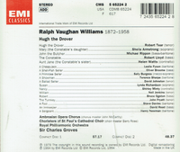 Hugh the Drover (Vaughan Williams)   (Groves;  Tear, Artmstrong, Watts, Rippon, Lloyd)  (2-EMI 65224)