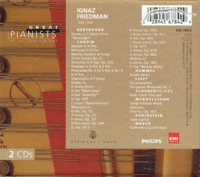 Ignaz Friedman   (2-Philips-BMG 456 784)