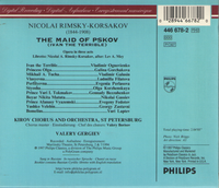 Ivan the  Terrible [The Maid of Pskov] (Rimsky-Korsakov) (Gergiev;  Ognovienko, Gorchakova, Galusin)  (2-Philips 446 678)