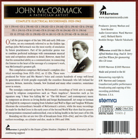 John McCormack: A Patrician Artist - The Complete Electrical Recordings, 1926-42  (16-Marston 51601)