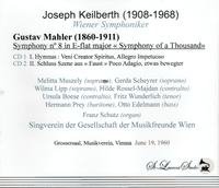 Joseph Keilberth, Vol. VII  (Mahler 8th)   (2-St Laurent Studio YSL T-506)