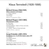 Klaus Tennstedt, Vol. XXIV;  - Prokofiev 5th -  Crocquenoy;  Denize - France  (2-St Laurent Studio YSL T-849)