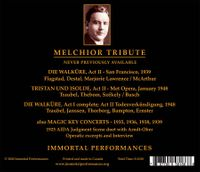 Lauritz Melchior - A Tribute;   Kirsten Flagstad, Helen Traubel, Marjorie Lawrence, Mihaly Szekely  (4-Immortal Performances IPCD 1139)