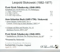 Leopold Stokowski, Vol. X - London & Croydon  (St Laurent Studio YSL T-708)