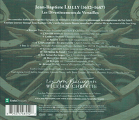 Les Divertissements de Versailles (Lully)  (Les Arts Florissants - William Christie)  (Erato  0927-41655)