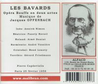 Les  Bavards  (Offenbach)  (Capdeville;   Annick Simon, Fanely Revoil, Aime Doniat, Andre Vessieres)  (Malibran 700)