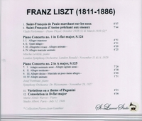 Liszt Celebration - Perlemuter, Levitzki, Warrot    (St Laurent Studio YSL 78-068)