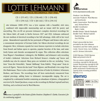 Lotte Lehmann, Vol. II - The Complete Odeon Electrical Recordings, 1927-33  (6-Marston 56004)