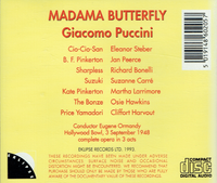 Madama Butterfly  (Ormandy;   Eleanor Steber, Jan Peerce, Richard Bonelli)  (2-Eklipse 16)