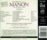 Manon  (Cohen;  Germaine Feraldy, Rogatchewsky, Villier, Guenot)  (2-The Classical Collector FDC 2 2001)