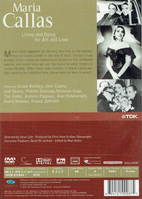 Maria Callas - Living and Dying for Art and Love   (TDK DVUS-DOCMC)