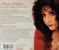Maria Muldaur  -  Love Songs of Bob Dylan   (Telarc 83643)
