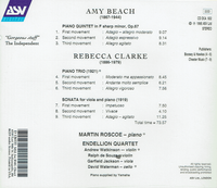 Martin Roscoe;  Endellion String Quartet - Amy Beach & Rebecca Clarke   (ASV DCA 932)