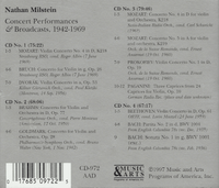 Nathan Milstein - Concert Performances & Broadcasts   (4-Music & Arts 972)