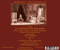 Nozze (Panizza;  Rethberg, Albanese, Stevens, Pinza, Brownlee, Baccaloni)  (3-Immortal Performances IPCD 1094)