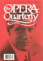 Opera Quarterly, Vol. 13, #3 – Spring, 1997